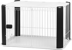 (This is an affiliate pin) IRIS Wire Dog Crate with Mesh Roof Wire Crate, Wire Dog Crates, Dog Crate Cover, Diy Dog Crate, Safe Door, Pet Cage, Puppy Care, Single Doors, French Bulldog Puppies
