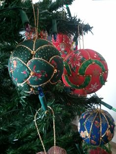 Palline di Natale in Patchwork