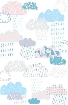 iPhone wallpaper { Clouds Art Print } Pattern / Color Me Pretty Present Paintings Wallpaper Backgrounds, Iphone Wallpaper, Wallpapers, Kids Prints, Art Prints, Image Deco, Inspiration Art, Cloud Art, Pattern Illustration
