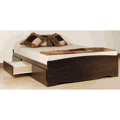 Manhattan Collection Espresso Platform Storage Bed