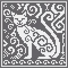 Pattern - Crochet / knit / stitch charts and graphs Filet Crochet Charts, Tunisian Crochet, Knitting Charts, Cross Stitch Charts, Crochet Stitches, Cross Stitch Patterns, Knitting Patterns, Knitting Projects, Cross Stitching