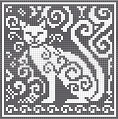 Ravelry: Spirit Cat Charts pattern by Melanie Nordberg. ☀CQ #crochet #charts #tapestry  http://www.pinterest.com/CoronaQueen/crochet-filet-tapestry-and-tunisian-corona/
