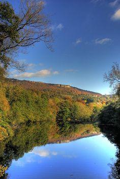 River Derwent near Calver (Derbyshire, England)