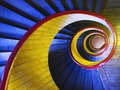 Spiral Staircase, Lowell, Massachusetts  © SuperStock
