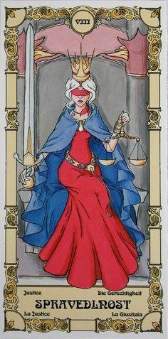 VIII Justice - Czech Grand Arcana Tarot.