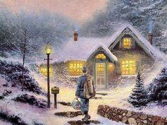 Coming Home by Thomas Kinkade