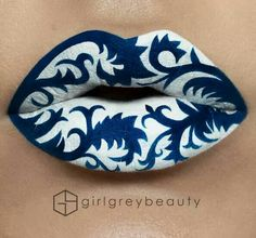 20 Examples of The Most Amazing Lip Art That Will Blow Your Mind Lippenstift, , 20 Examples of The Most Amazing Lip Art That Will Blow Your Mind Chinesisches Porzellan Lip Art Make up & Hair. Lipstick Designs, Lip Designs, Makeup Designs, Crazy Makeup, Cute Makeup, Lip Makeup, Lip Artwork, Lipstick Art, Lipsticks