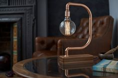 D- Light by Lumens & Wood  The Copper Collection has been born from a fusion of natural, tactile materials meeting with the industrial edge of modern living. This amalgamation of materials has resulted in a collection of stunning lamps that inspire and transform a space.   Handmade and unique, our Copper Collection fuses an industrial edge with modernist style.