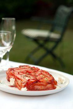terrina_pomodori e caprino con marmellata di peperoni                     #recipe #juliesoissons