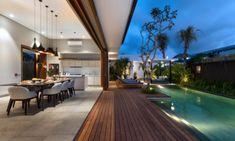 Pool Side Kitchen and Dining Area - Amarin Seminyak - Seminyak, Bali Villa Design, Deck Design, House Design, 8 Pool, Swimming Pools Backyard, Pool House Interiors, Backyard Pool Designs, Tudor House, Beach Villa