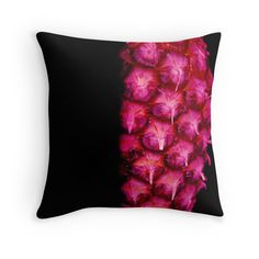 Purple abstract pineapple throw pillow by Tracey Lee Art Designs