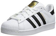 adidas Originals Superstar J Casual Low-Cut Basketball Sneaker (Big Kid)White/Black/White5.5 M US Big Kid