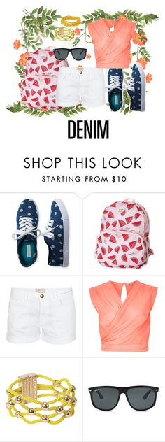 """""""Denim Contest Entry"""" by clairemjc ❤ liked on Polyvore featuring Aéropostale, Roxy, Current/Elliott, River Island, Ray-Ban and denim"""