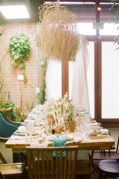 Centerpieces aren't the only way to add life to your reception tables. Looking to make a statement at an event with an upscale cowboy vibe designed by Canvas