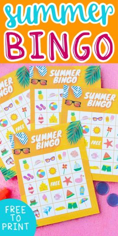 Printable summer bingo cards make the perfect summer activity for kids and adults!