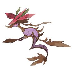 When Skrelp evolves into Dragalge, it gains the Dragon type. This ferocious Pokémon will attack any intruder without distinction. Dragalge is greatly feared, and its home waters are under a dire warning of danger.  The poison Dragalge emits is so toxic that it can erode ship hulls.
