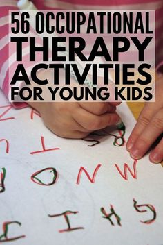 Learning Through Play: 56 Occupational Therapy Activities for Kids – Julia Cody – art therapy activities Visual Motor Activities, Fine Motor Activities For Kids, Autism Activities, Art Therapy Activities, Outdoor Activities, Health Activities, Spring Activities, Toddler Activities, Learning Through Play