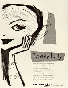 lovely lady illustration #vintage #illo