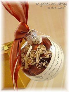 Invitation Ornaments Parents of Bride Gift 1st First by Rychei, I think this would be a nice gift to make for Xmas