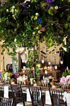 Lush garden reception