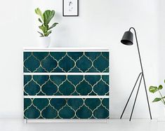 Ikea malm   Etsy Malm Drawers, Ikea Malm Dresser, Coral Furniture, Ikea Furniture, Painting Furniture, Hemnes, Solid Surface, Ikea Overlays, Bubble