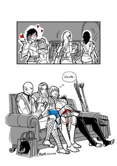 """uuyly:  so this is the """"another world""""\(≧▽≦)/ elves and their girlfriends."""