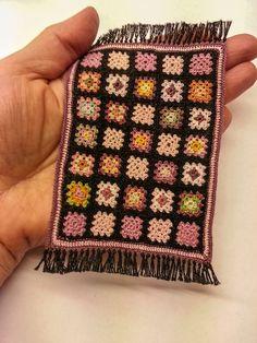 grannysquare dollhouse miniature rug.