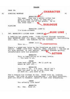 Screenplay format made easy - The complete step-by-spet guide to formatting your script by industry-standard, with examples. Writing A Movie Script, Tv Writing, Film Script, Book Writing Tips, Script Writing Format, Acting Monologues, Acting Scripts, Movie Scripts, Acting Lessons