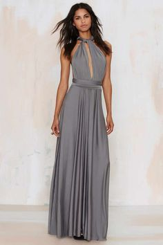 Voltage Multi Wear Maxi Dress - Gray | Shop Clothes at Nasty Gal!