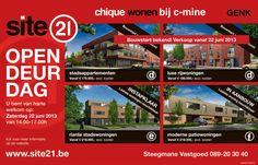 Opendeurdag Site 21. Wonen op C-mine in Genk. kijk voor meer info http://cms.site21.be/CMS/Start-verkoop-Site21-Deelfase-D-woningen-Appartementen.htm