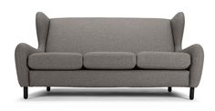 Rubens 3 Seater Sofa, Nickel Grey