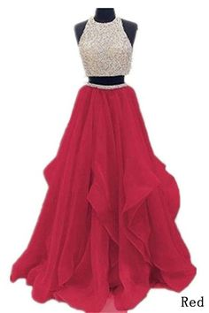2 Piece Floor Length Burgundy Prom Dress Beaded Open Back Evening Gown – Okdresses Cute Formal Dresses, Pretty Prom Dresses, Best Prom Dresses, Elegant Prom Dresses, Prom Dresses For Sale, Black Prom Dresses, Tulle Prom Dress, Homecoming Dresses, Bridesmaid Dresses