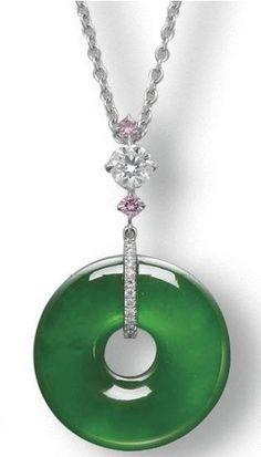 乐缘清清翡翠的微博_微博@怡诺采集到平安扣设计(276图)_花瓣 Jade Necklace, Jade Jewelry, Silver Jewelry, Jewelry Accessories, Pendant Necklace, Simple Elegance, Antique Jewelry, Jewelery, Fashion Jewelry
