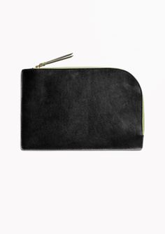 & Other Stories image 1 of Leather Pouch in Black