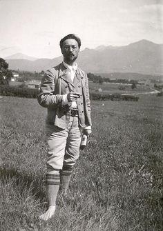 Kandinsky in Murnau, um 1909 Foto: Gabriele Münter und Johannes Eichner Stiftung, München