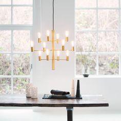 Manola 12 Ljuskrona LED, Mässing 4299 kr. - RoyalDesign.se