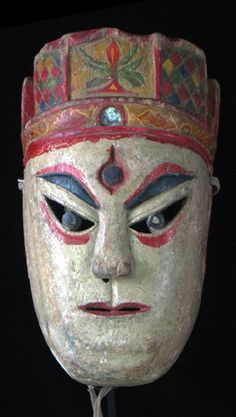 Chinese Nuo mask   Maonan people, Guangxi, SW China