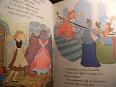 Vintage 1974 Cinderella Book Disney Princess Walt by MaxShack, $4.00