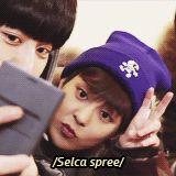 xiumin's cute selca