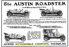 1908 Austin Automobile  Advertisement