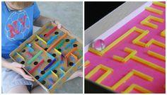 Come fare una pista per biglie fai da te con materiali di riciclo. Idee per creare semplici piste per biglie fai da te con cartone e cartoncino.