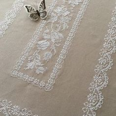 Cross Stitch Borders, Cross Stitch Rose, Cross Stitch Flowers, Cross Stitch Charts, Cross Stitching, Cross Stitch Embroidery, Cross Stitch Patterns, White Embroidery, Hand Embroidery