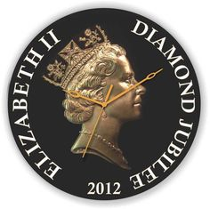 A stylish Elizabeth Clock, to celebrate the Diamond jubilee in 2012. Get this royal clock in your homes, only on www.gloob.in