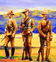 British Scots Guards and Northants Regiment in South Africa