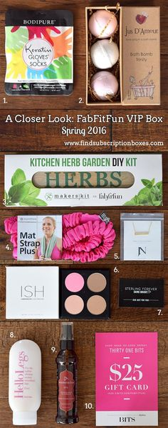 The Spring FabFitFun VIP Box revealed! Check out the amazing Spring products in this season's box. Join now to get yours and save $10 off! http://www.findsubscriptionboxes.com/a-closer-look/spring-2016-fabfitfun-vip-box-review/?utm_campaign=coschedule&utm_source=pinterest&utm_medium=Find%20Subscription%20Boxes&utm_content=Spring%202016%20FabFitFun%20VIP%20Box%20Review%20%2B%20Coupon