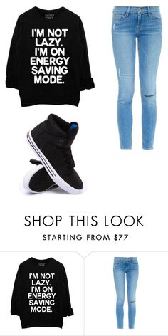 """""""Untitled #9"""" by dancingkoalabear ❤ liked on Polyvore featuring Frame Denim and Supra"""