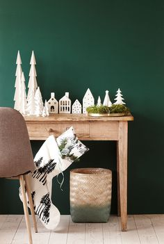 Søstrene Grene Christmas Collection 2015. Do a Scandinavian village display on top of dresser.