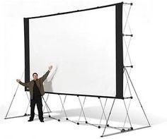 Backyard Drive-In: Huge Portable Outdoor Projector Screen