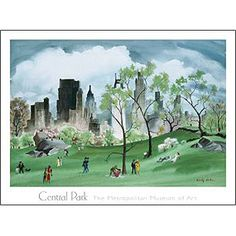 Adolf Dehn: Spring in Central Park Poster - Posters & Prints - Wall Art - The Met Store