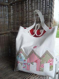 Schultertaschen - Strandtasche/Schultertasche' Tag am Meer' - ein Designerstück von milla-louise bei DaWanda